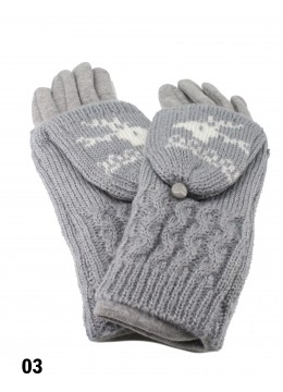 2 Layers Deer Knit Touch Screen Glove