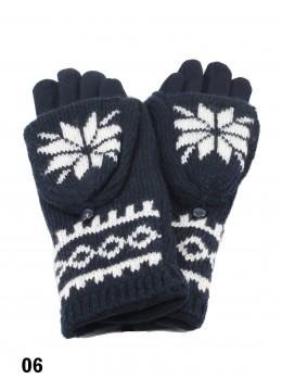 Snowflake Knit Touch Screen Glove