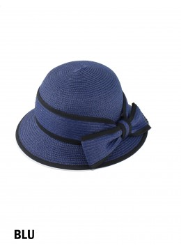Straw Hat W/ Bowknot /Blue