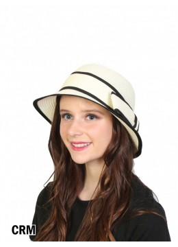 Straw Hat W/ Bowknot /Cream