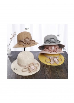 Straw Hat W/ Flower