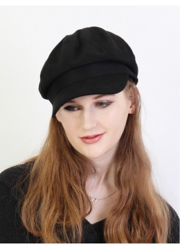 Winter Warm Wool Beret /Black