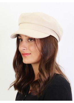 Winter Warm Wool Beret /Cream