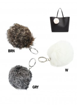 Fur Ball Purse Keychain
