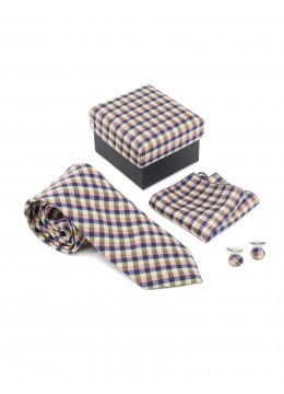 Classic Check Print Tie Set/ Multi Colors