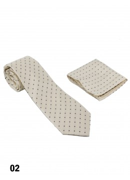 Classic Men's Polk Dot Print Tie Set