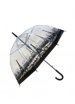 Classic Eiffel Tower Print Stick Umbrella