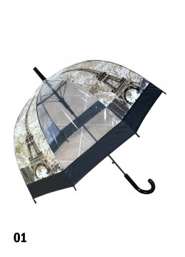 Eiffel Tower Print Stick Umbrella