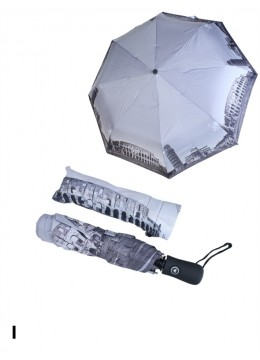 Automatic Umbrella W / Italy Scenery Print