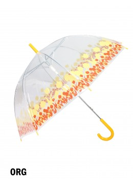 Clear Transparent Rain Umbrella W/ Dots