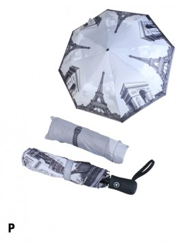 Automatic Umbrella W / Paris Scenery Print