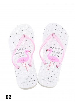 Happy Everyday Flamingo Print Flip Flop