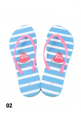 Hello Summer Watermelon Print Flip Flop
