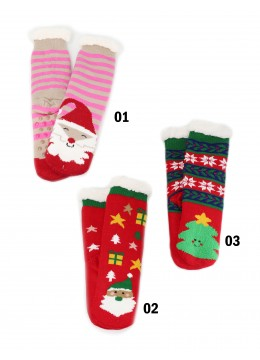 Christmas Print Indoor Anti-Skid Slipper Socks
