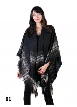 Plaid Trim Plush Cape