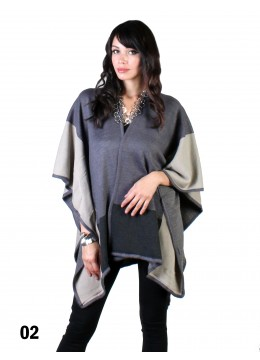 Colour Blocks Knitted Cape