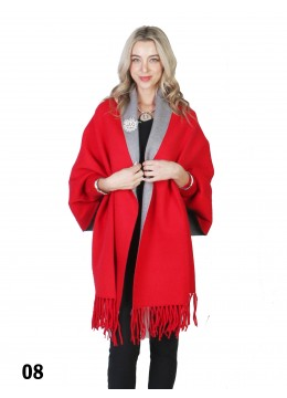 Reversible Open-front Knit Cardigan Cape