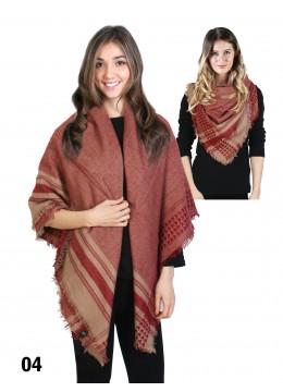 Stylish Plaid Blanket Scarf