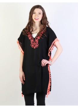 Short Sleeve Loose Bohemian Fashion Top W/ Tassels