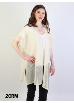 Short Sleeve Fashion Top - Cream