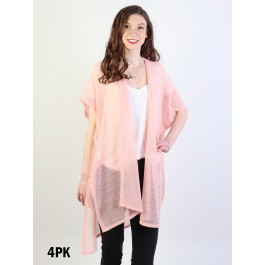 Short Sleeve Fashion Top - Pink