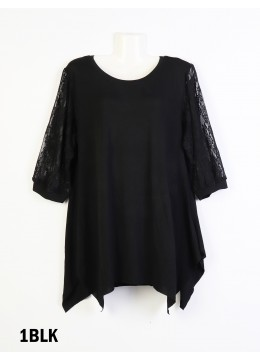 Loose Lace Sleeved Fashion Top