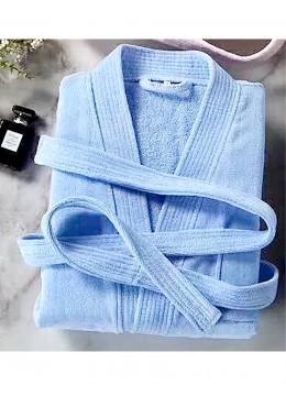 100% Cotton Soft Plain House Robe W/ Pockets