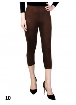 Capri Stretch Legging /Dark Brown