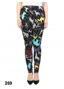 Safari Animals Prints Stretchy Legging