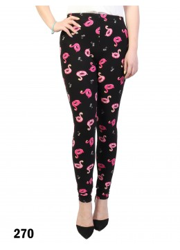 Pink Flamingo Float Pattern Stretchy Legging