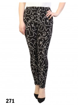 Abstract Pattern Stretchy Legging