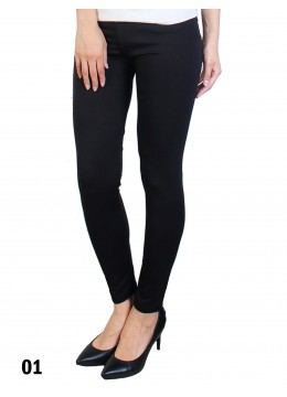 Extra Large Solid Stretch Legging + /Black