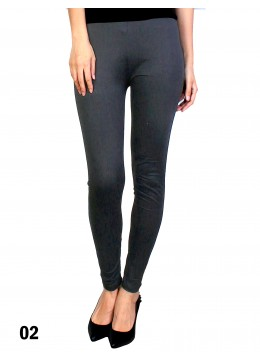 Extra Large Solid Stretch Legging + /Dark Grey