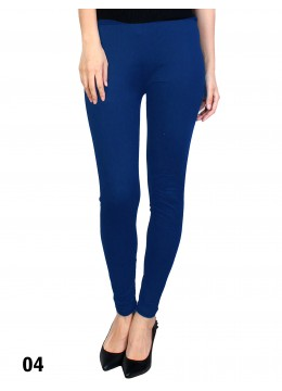 Extra Large Solid Stretch Legging + /Royal Blue