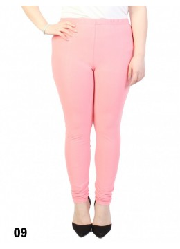 Extra Large Solid Stretch Legging + /Coral