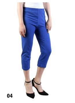 Plus Size Stretch Capri + /Royal Blue
