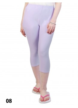Plus Size Stretch Capri + /Light Purple