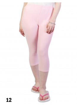 Plus Size Stretch Capri + /Light Pink