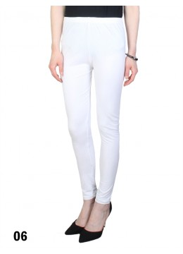 Extra Large Solid Stretch Legging + /White