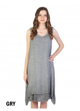 Layered Solid Shift Dress