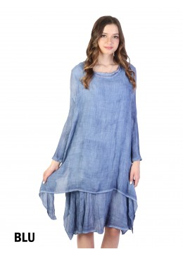 Layered Soild Long Shift Dress