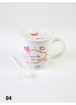 Love Print Mug with Spoon