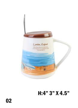 Landmark Print Mug with Spoon & Lid /London