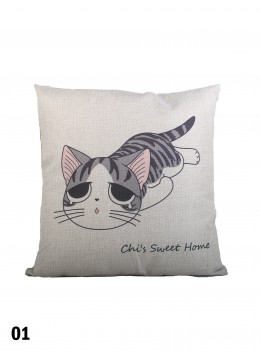 Fashion Kitten Print Cushion