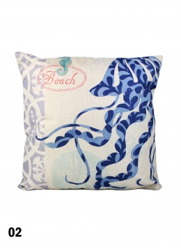 Vintage  Marine Creatures Design Cushion