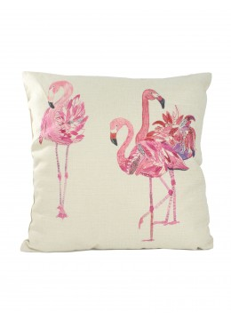 Flamingo Print Cushion & Filler