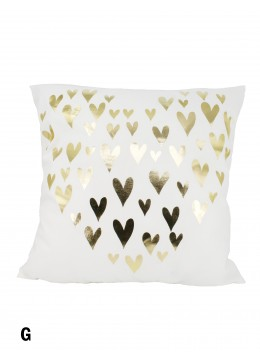 Hearts Print Cushion & Filler