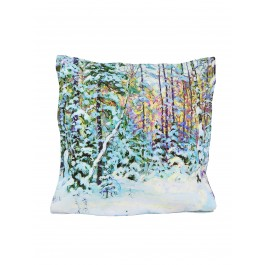 Oil Painting Design Printed Cushion W/ Filler