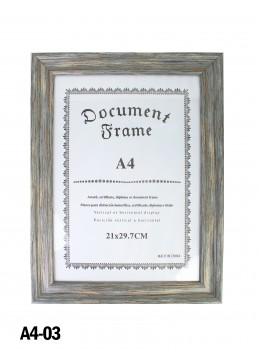 Vintage Wooden Document Frame (A4)