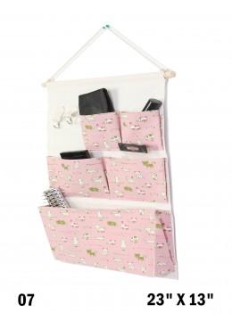 5 Pocket Organizer Storage Rack W/ Cats Print